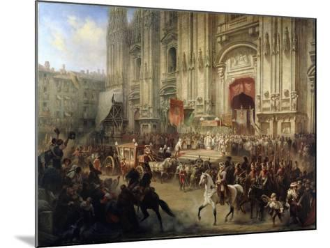 Ceremonial Reception of Field Marshal Alexander Suvorov in Milan in April 1799, 1850S-Adolf Jossifovich Charlemagne-Mounted Giclee Print