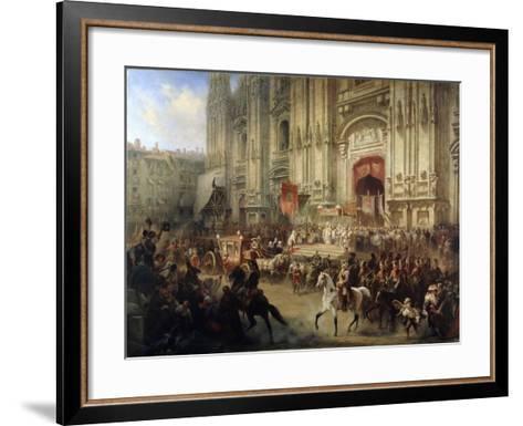 Ceremonial Reception of Field Marshal Alexander Suvorov in Milan in April 1799, 1850S-Adolf Jossifovich Charlemagne-Framed Art Print