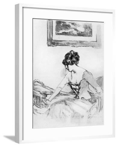 A Study, Late 19th Century-Albert de Belleroche-Framed Art Print