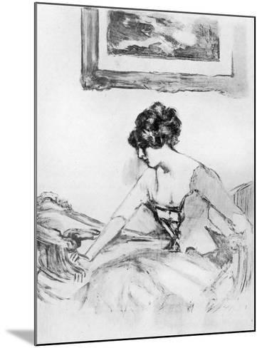 A Study, Late 19th Century-Albert de Belleroche-Mounted Giclee Print