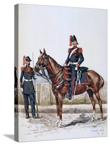 Parisian Republican Guard, 16 May 1848 - 1 Febuary 1849-A Lemercier-Stretched Canvas Print