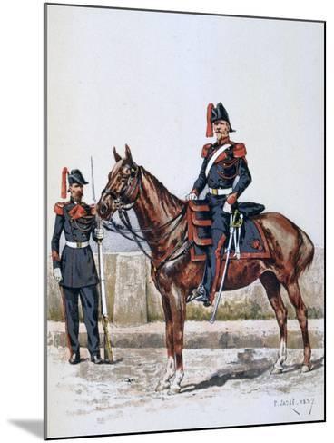 Parisian Republican Guard, 16 May 1848 - 1 Febuary 1849-A Lemercier-Mounted Giclee Print