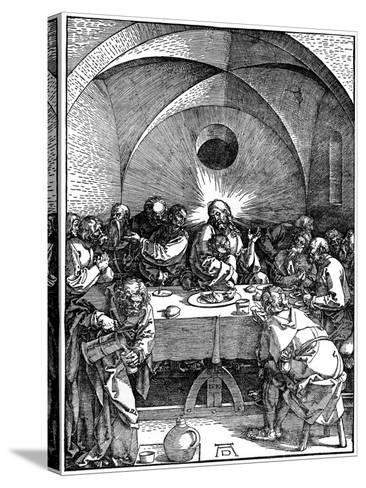 The Last Supper from the 'Great Passion' Series, C1510-Albrecht Durer-Stretched Canvas Print