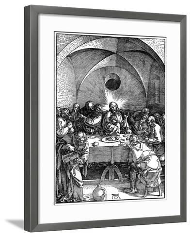 The Last Supper from the 'Great Passion' Series, C1510-Albrecht Durer-Framed Art Print