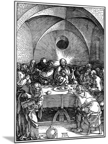 The Last Supper from the 'Great Passion' Series, C1510-Albrecht Durer-Mounted Giclee Print