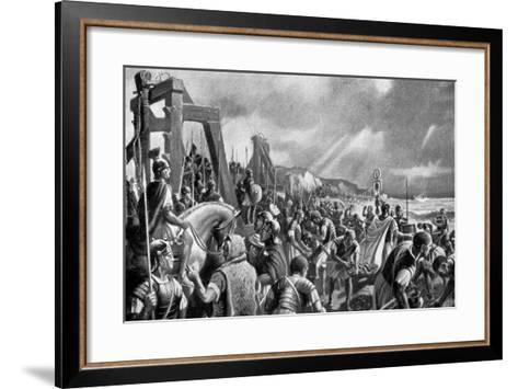 The Emperor Caligula on the Shore of Boulogne, 40 Ad-A MacKinlay-Framed Art Print