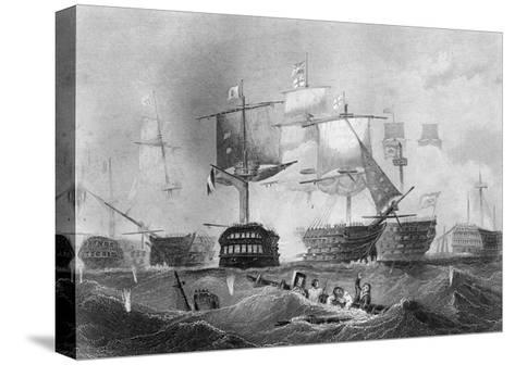 The Battle of Trafalgar, 21 October 1805-Albert Henry Payne-Stretched Canvas Print