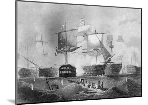 The Battle of Trafalgar, 21 October 1805-Albert Henry Payne-Mounted Giclee Print