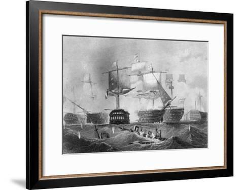The Battle of Trafalgar, 21 October 1805-Albert Henry Payne-Framed Art Print