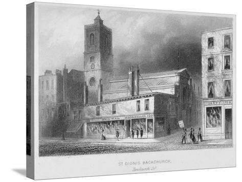 View of St Dionis Backchurch from Fenchurch Street, City of London, 1847-Albert Henry Payne-Stretched Canvas Print