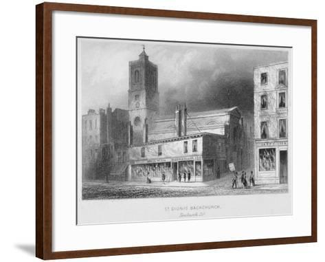 View of St Dionis Backchurch from Fenchurch Street, City of London, 1847-Albert Henry Payne-Framed Art Print