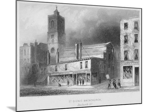 View of St Dionis Backchurch from Fenchurch Street, City of London, 1847-Albert Henry Payne-Mounted Giclee Print
