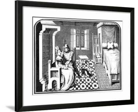 A Knight and a Lady, 15th Century-A Bisson-Framed Art Print