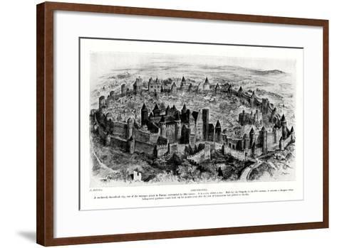Carcassonne, France-A Robidan-Framed Art Print