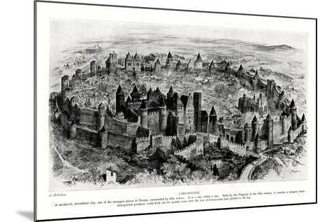 Carcassonne, France-A Robidan-Mounted Giclee Print
