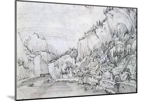 Sarmingstein on the Danube, 16th Century-Albrecht Altdorfer-Mounted Giclee Print