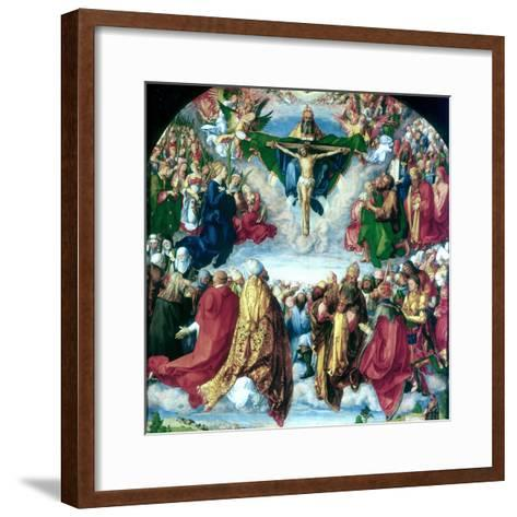The Adoration of the Trinity (The Landauer Altarpiece), 1511-Albrecht Durer-Framed Art Print