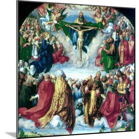 The Adoration of the Trinity (The Landauer Altarpiece), 1511-Albrecht Durer-Mounted Giclee Print