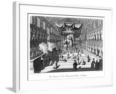 The Temple of Ten Thousand Idols in Japan, C1860-A Thom-Framed Art Print