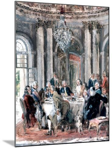 Reunion at the Mansion, 1849-Adolph Menzel-Mounted Giclee Print