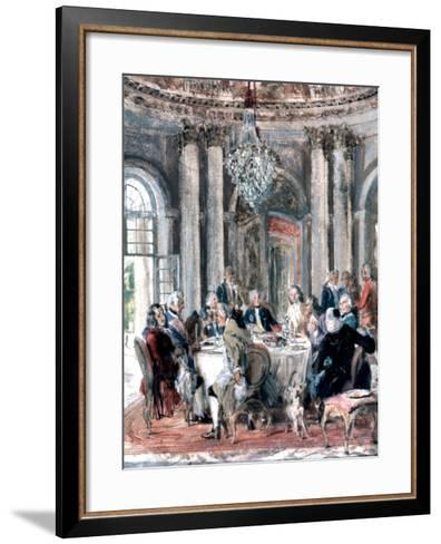 Reunion at the Mansion, 1849-Adolph Menzel-Framed Art Print