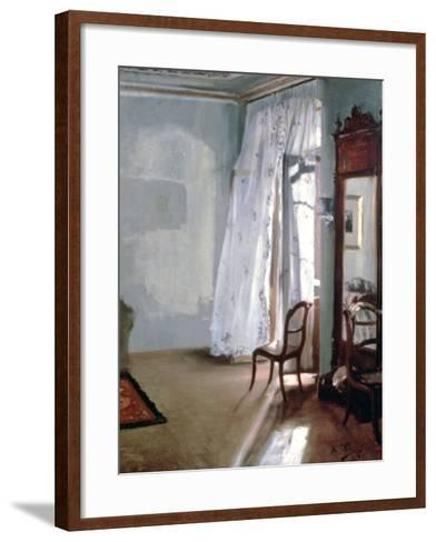 Room with Balcony, 1845-Adolph Menzel-Framed Art Print