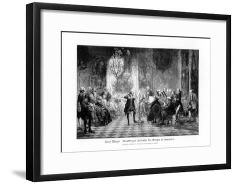 Fredrick Great Concert at Sanssouci, 1900-Adolph Menzel-Framed Art Print
