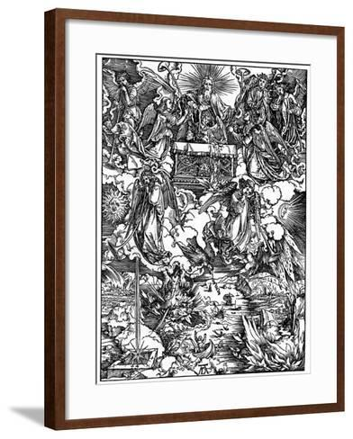 The Opening of the Seventh Seal, the Seven Angels with the Trumpets, 1498-Albrecht Durer-Framed Art Print