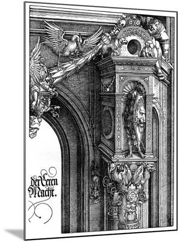 The Triumphal Arch of Emperor Maximilian I, 1515-Albrecht Durer-Mounted Giclee Print