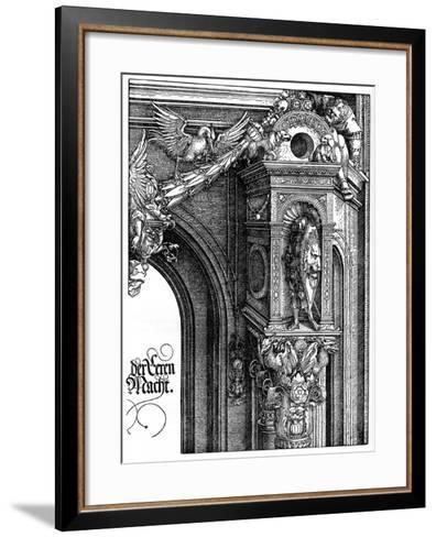 The Triumphal Arch of Emperor Maximilian I, 1515-Albrecht Durer-Framed Art Print