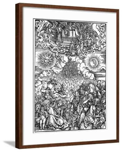 The Opening of the Fifth and Sixth Seals, 1498-Albrecht Durer-Framed Art Print