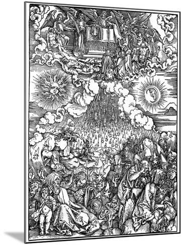 The Opening of the Fifth and Sixth Seals, 1498-Albrecht Durer-Mounted Giclee Print