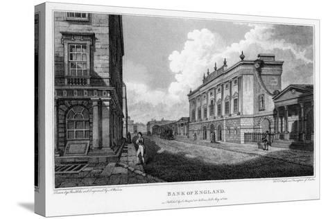 Bank of England, City of London, 1805-A Warren-Stretched Canvas Print