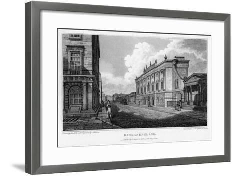 Bank of England, City of London, 1805-A Warren-Framed Art Print