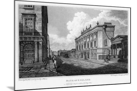 Bank of England, City of London, 1805-A Warren-Mounted Giclee Print