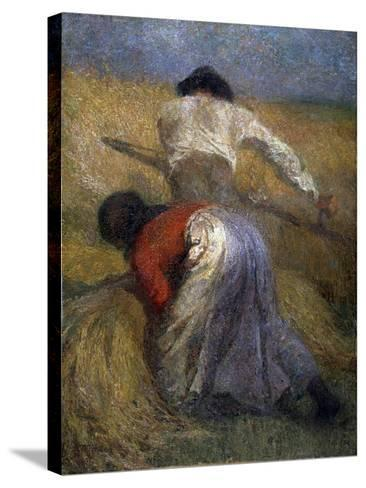 The Harvest, 19th Century-Adolphe Monticelli-Stretched Canvas Print
