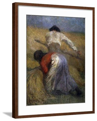 The Harvest, 19th Century-Adolphe Monticelli-Framed Art Print
