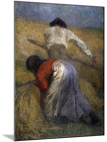 The Harvest, 19th Century-Adolphe Monticelli-Mounted Giclee Print