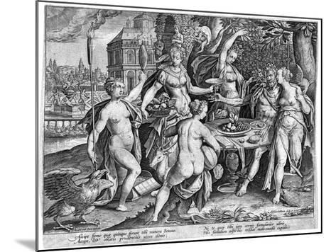 The Five Senses, Late 16th Century-Adriaen Collaert-Mounted Giclee Print