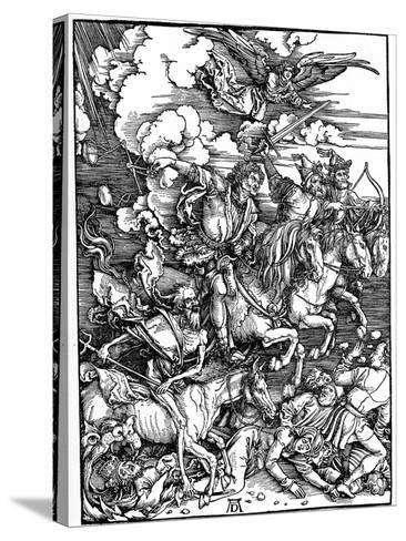 The Four Horsemen of the Apocalypse, 1498-Albrecht Durer-Stretched Canvas Print