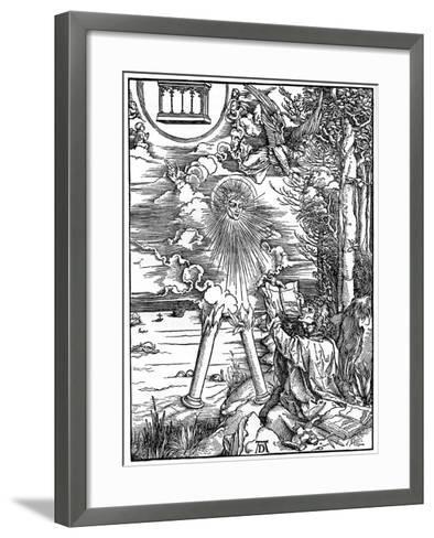 St John Devouring the Book, 1498-Albrecht Durer-Framed Art Print