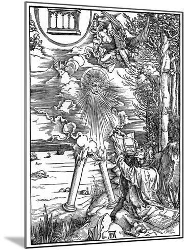 St John Devouring the Book, 1498-Albrecht Durer-Mounted Giclee Print