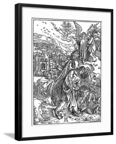 The Angel Holding the Keys of the Abyss, 1498-Albrecht Durer-Framed Art Print