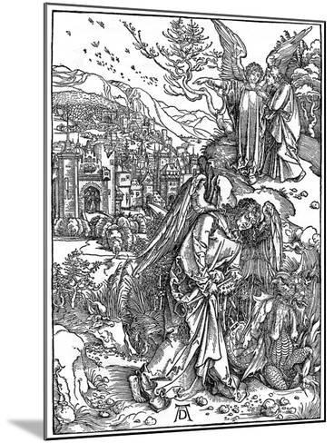 The Angel Holding the Keys of the Abyss, 1498-Albrecht Durer-Mounted Giclee Print