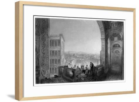 Rome, from the Vatican, Late 19th Century-A Willmore-Framed Art Print
