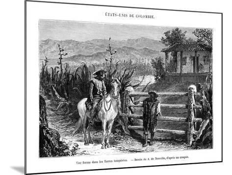 A Farm, Colombia, South America, 19th Century-A de Neuville-Mounted Giclee Print