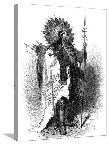 A Native American, USA, 19th Century-A de Neuville-Stretched Canvas Print