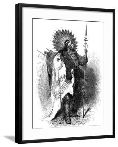 A Native American, USA, 19th Century-A de Neuville-Framed Art Print