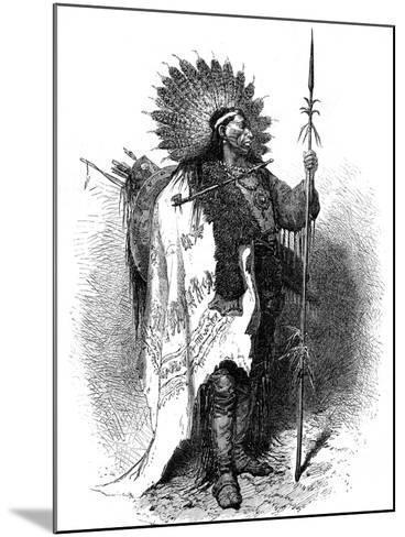 A Native American, USA, 19th Century-A de Neuville-Mounted Giclee Print