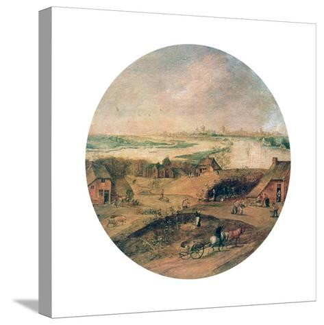 The Four Seasons, Autumn, C1600-Abel Grimmer-Stretched Canvas Print